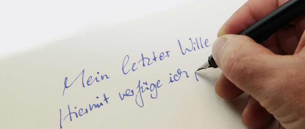 Schreiben des eigenen Testaments
